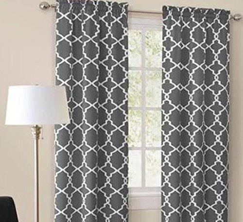 Mainstays Calix Fashion 56 Quot X 63 Quot Window Curtain Set Of 2
