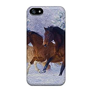 New Arrival Cover Case With Nice Design For Iphone 5/5s- Horses Running