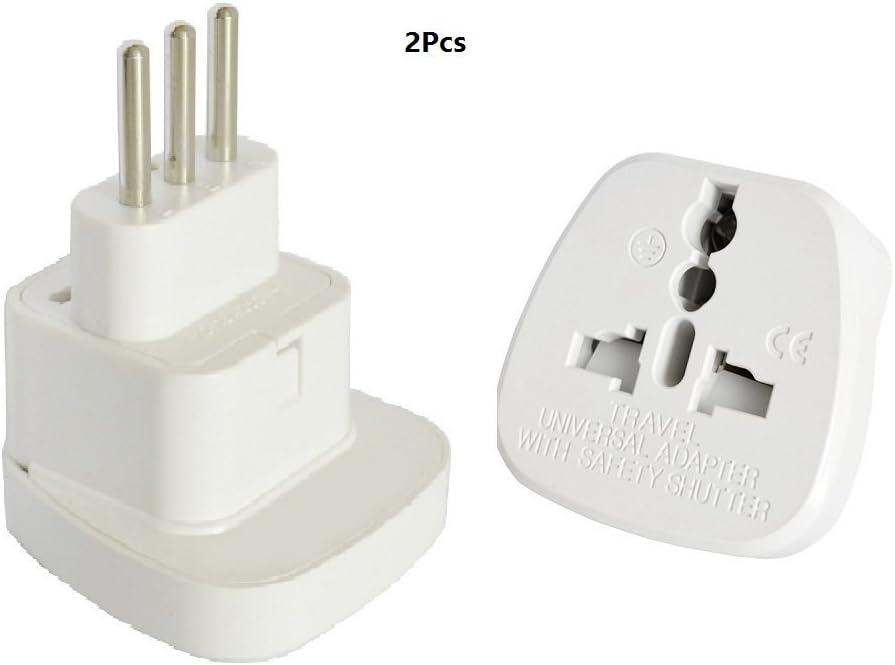 2 x Adaptador Convertidor de Alemania – Italia de la norma Uruguay Travel Adapter AC Power Plug AC enchufe: Amazon.es: Electrónica