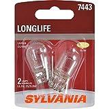 SYLVANIA 7443 Long Life Miniature Bulb, (Contains 2 Bulbs)