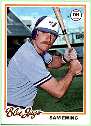 b2d5f2ba9 1978 Topps  344 Sam Ewing RC TORONTO BLUE JAYS rookie Nrmt-Mint at Amazon s  Sports Collectibles Store