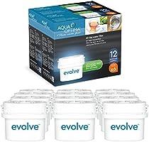 Paquete para 2 años Aqua Optima Evolve, 12 filtros de agua para 60 días - Aparatos Fit *BRITA Maxtra (no *Maxtra+) - EVD912