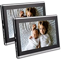 Twin 10.1 Inch Car Auto Headrest DVD Player Ultra-thin HD Dual Screen Monitor Rear Seat Entertainment System For Kids With HDMI USB SD Port Free Remote Control