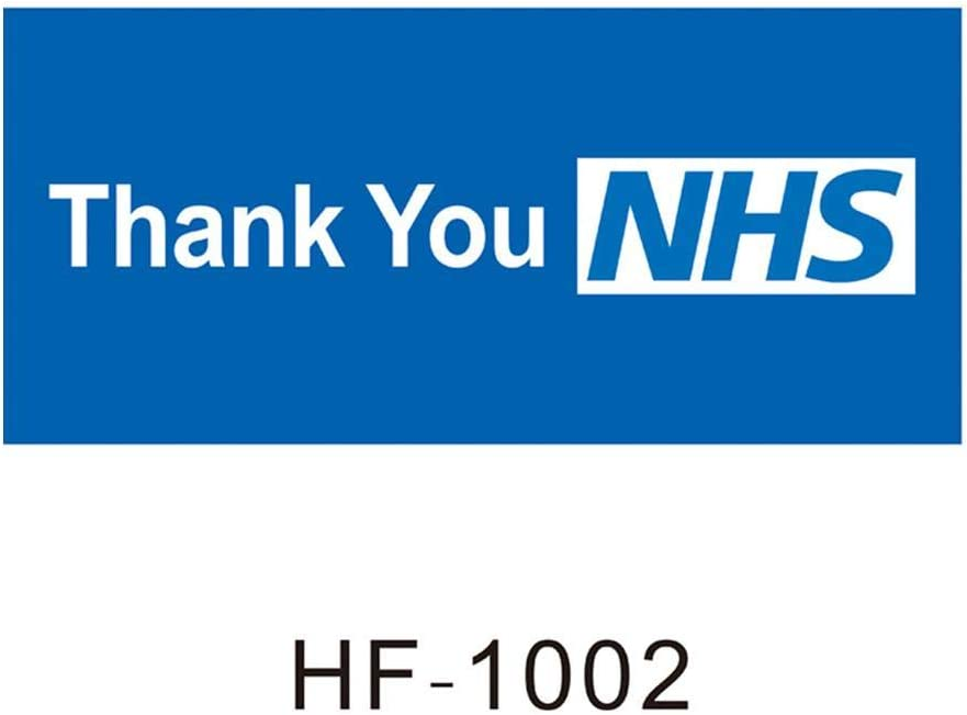 Thank You NHS Flag Key Workers Flag Banner for Shop Home Window Car Decoration
