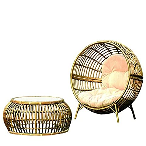 Imatation bamboo - rattan wicker chaise lounge chair / longuer / recliner / reclining chair (Outdoor Glider Cuscini)