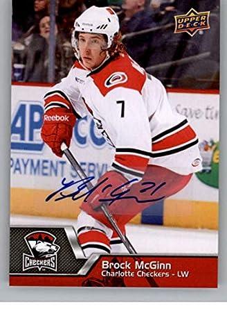 2014-15 Upper Deck AHL Autographs Hockey  139 Brock McGinn Auto Autograph  Charlotte Checkers 206a52aaf