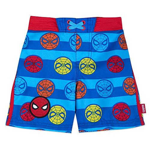 Marvel Spider-Man Swim Trunks for Kids Blue (Spiderman Swimsuit)