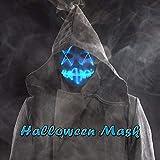 Halloween Mask, 1 Led Jabbawockeez Mask Blue + 1