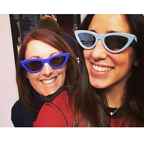 Bisagra UV400 Estilo Gafas Escoger Rock de gato C2 sol Lente Ojo Mujer 9 de de Moda Color Hzjundasi Amarillo primavera Gafas Enorme Gris Retro Marco para Uq6nHfPBxw