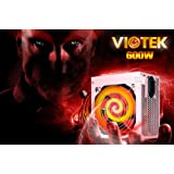 Viotek 600W 20/24 Pin High Quality Power Supply with PCI Express & SATA - New Revision for Advanced Cooling