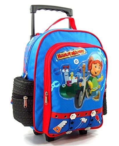 """Disney Handy Manny 12"""" Toddler Rolling Backpack"""
