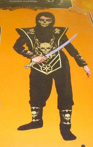 Costumes Ninja Lord Kids (Skull Lord Ninja - Gold Costume Small)
