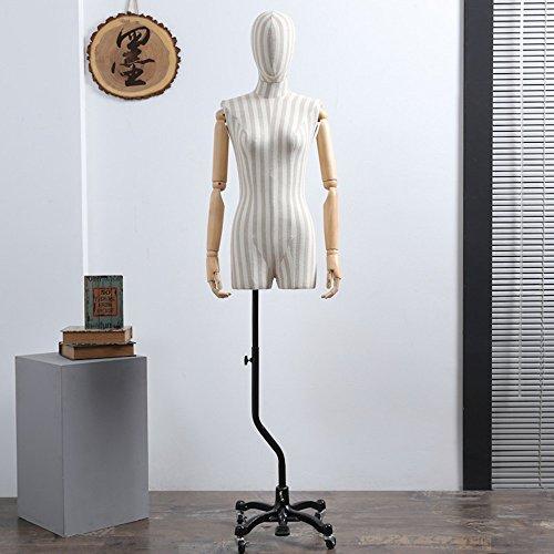 BEIYANG FRP Female Male Mannequin Torso Dress Form Display Stand Designer Pattern (Female) by BEIYANG