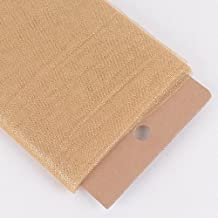 54 Inch X 10 Yards Premium Glitter Tulle Fabric Bolt (Gold) by AK TRADING CO.
