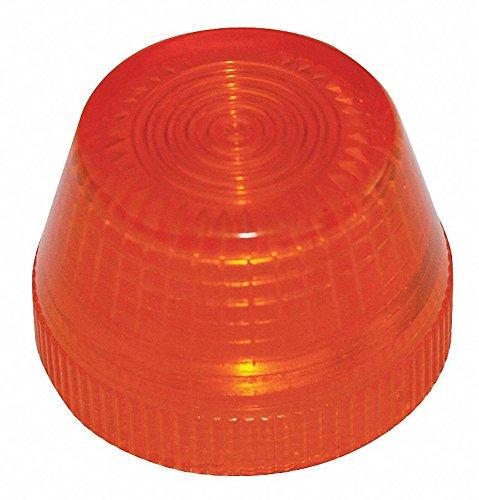 Pilot Light Lens, 30mm, Amber, Plastic - Amber Pilot Light
