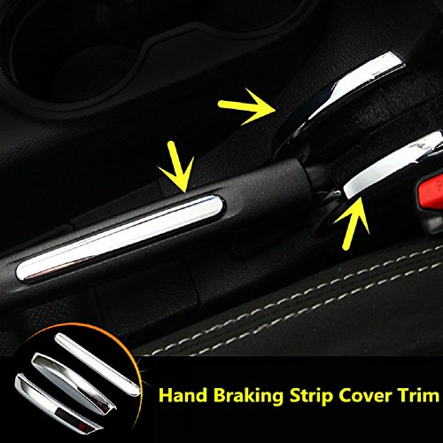 Bolaxin Inner Hand Braking Strip Cover Trim For Jeep Wrangler Rubicon JK 2011-2016 3pcs