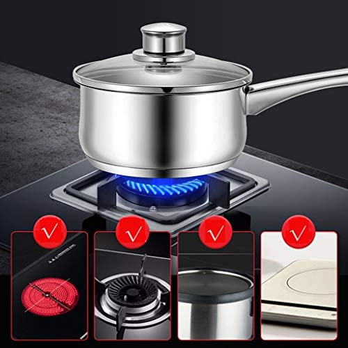 Pot De 16 Cm En Acier Inoxydable Petit Pot à Lait Batterie De Cuisine Ustensiles De Cuisine Casseroles(Size:16cm)