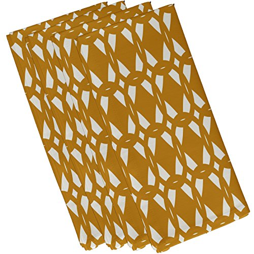 E By Design Geo-Craze Geometric Print Napkin, 19