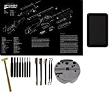 ultimate arms gear mossberg - Wheeler 672215 Universal Bench Block + Ultimate Arms Gear Mossberg 500/505/535/590/835 Poster + 8pc Steel Pin Punch Tool Set + Brass Head Hammer + Brush & Pick Tool Set + Magnetic Parts Tray