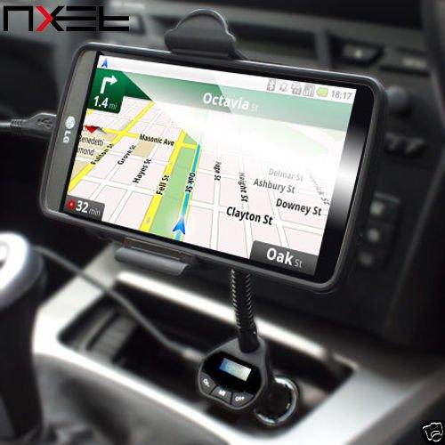 nxet® FM Transmitter Auto-Kit, kabellos Musik roadtune Universal Freisprechfunktion KFZ Kit mit USB-Ladegerät Halterung für iPhone SE/6/6S/Plus Samsung Galaxy Note 7/5/4/3/2S2//S3//S4//S5/S6/S7Edge Sony HTC Google Nexus und mehr