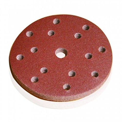 10 St/ück Original Blaufaust/® Schleifscheiben D:150 mm mit 15 L/öcher 80er K/örnung Klett f/ür Holz
