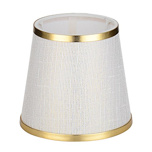 Cleeacc Lampshade Lamp Cover Decorative Handmade Modern E14 Screw Lampshade Buu American Pastoral Style Luxury Crystal Candle Glass E14 Adapter Lamp Shade Cloth Design 2 -