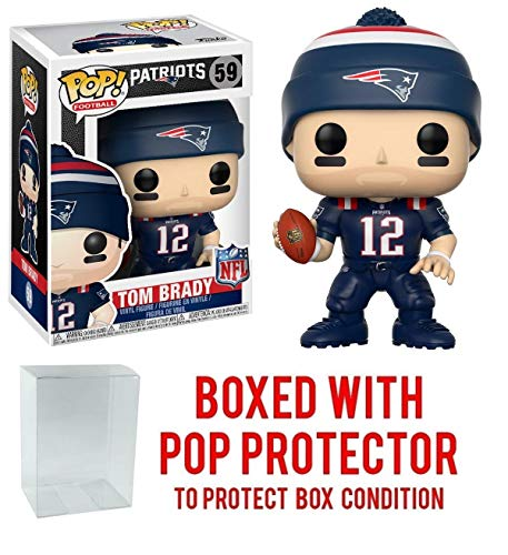 (Pop! NFL: New England Patriots, Tom Brady Color Rush #59 Vinyl Figure (Bundled with Pop)
