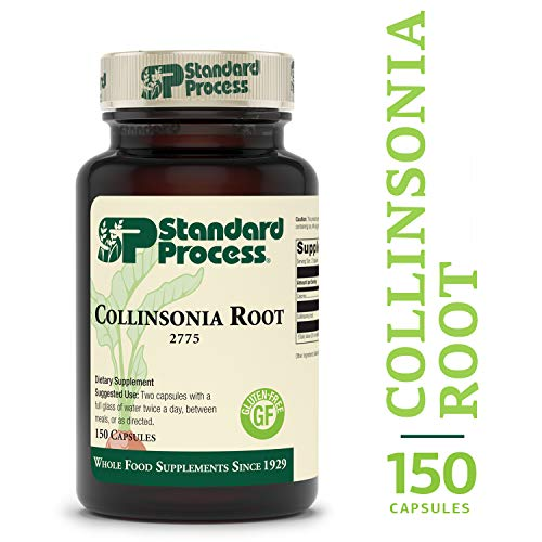 Stone Root Extract - Standard Process - Collinsonia Root - Vascular Tissue and Water Balance Supplement, Supports Digestion, Bladder, and Kidneys, Gluten Free - 150 Capsules