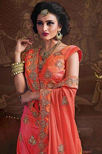 PCC Womens Silk Fabric Pink Pretty Circular Lehenga Style 84042