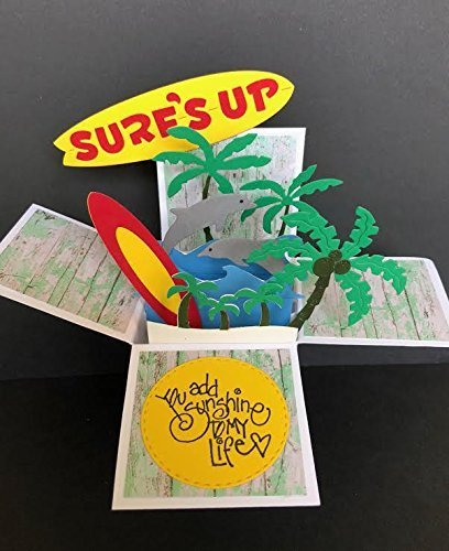Amazon Com Thinking Of You Pop Up Card Beach Friendship Card