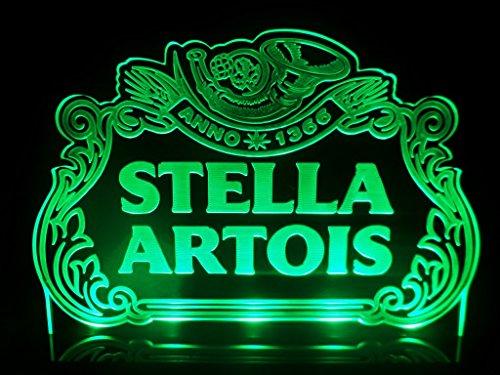 Stella Artois Pub Sign Bar Light Led Counter Top Night Light Beer