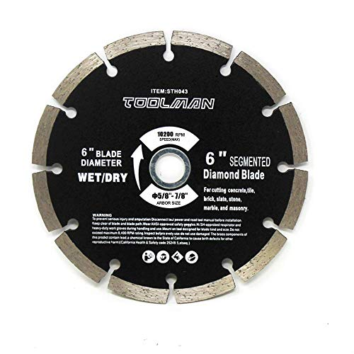 Toolman Circular Saw Blade Segmented Universal Fit 6