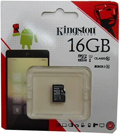 16 Gigabyte Card for NIU N109 Phone with custom formatting and Standard SD Adapter. Professional Kingston MicroSDHC 16GB SDHC Class 4 Certified