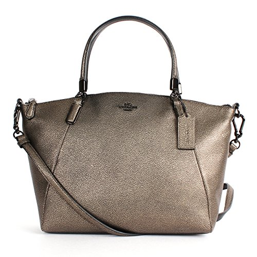 Coach 33736 Metallic Leather Small Kelsey Satchel Va/brass