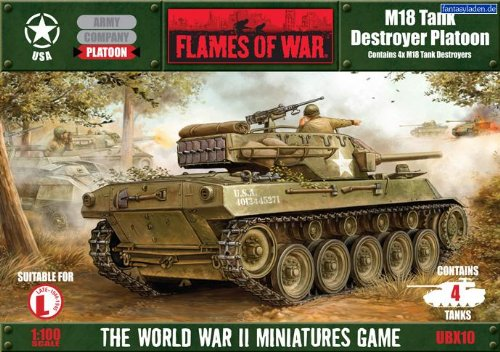 Battlefront Miniatures USA: M18 Tank Destroyer Platoon (M18 Hellcat Tank Destroyer)