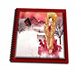 3dRose db_24158_1 Lonely Anime-Drawing Book, 8 by 8-Inch