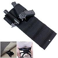 Tactical Adjustable Under Mattress Bed Seat Vehicle Car Pistol Handgun Gun Holster Holder Universal with Tactical Flashlight Loop