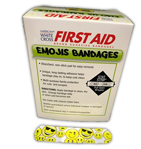 """Emojis Bandages Are Cool - 100ct Sterile 3/4""""x3"""""""
