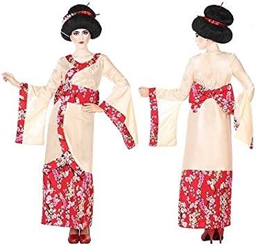 Atosa-53876 Atosa-53876-Disfraz Geisha-Adulto XL-Mujer, Color Rojo ...