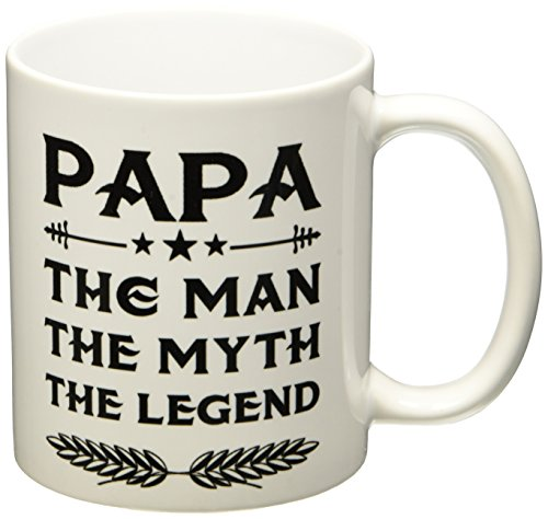 Papa Ceramic Coffee Mug - Funny Father's Day Gift For Dad And Grandpa - Great Birthday Present Idea For Parents - Novelty Cup -