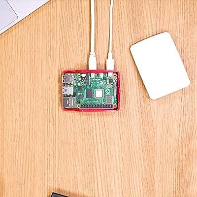 LEICKE Leike Raspberry pi 3 Model B+ - Cargador de sobremesa (5 V, 3 A, 15 W, con Carcasa Oficial, 2 Conectores Micro USB, Adaptador Europeo, Cable de ...