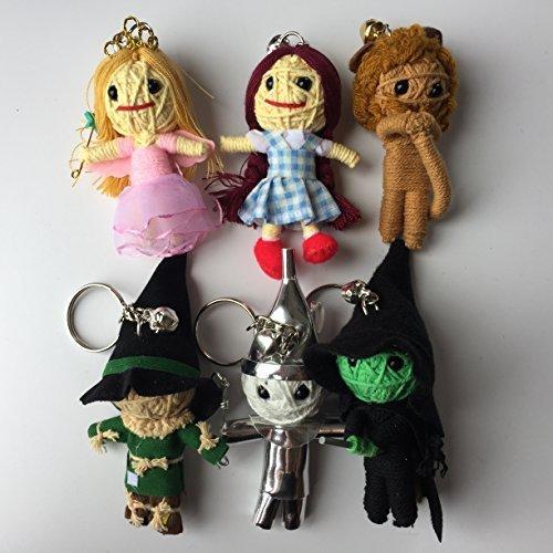Wizard of Oz 6 String Mini Doll Set - Dorothy, Lion, Scarecrow, (Wizard Of Oz Doll)