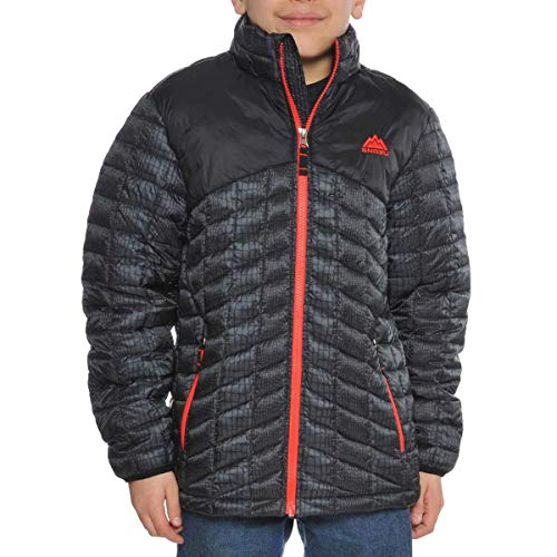 - Snozu Boys Glacier Shield Quilted Jacket (L, Black)