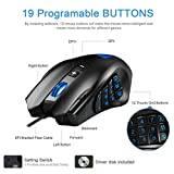 Gaming-Mouse-Rytaki-R6-High-Precision-16400-DPI-Laser-MMO-Wired-Gaming-Mice-with-19-Programmable-Buttons-12-Side-Buttons6-Adjustable-DPI-Levels-Weight-Tuning-Cartridge-for-PC-Gamer-Black