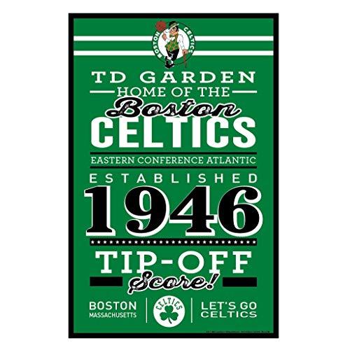 Wincraft NBA Boston Celtics SignWood Established Design, Team Color, 11x17