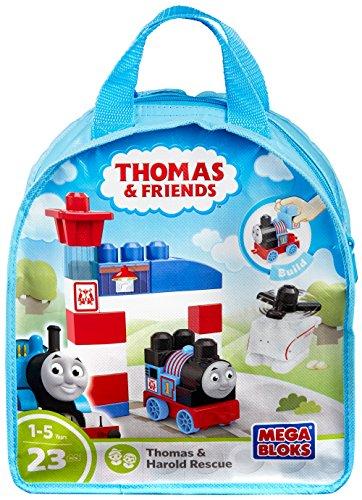 Mega Bloks Thomas & Friends Thomas & Harold Rescue Center Playset Bag (Toy Train Take)