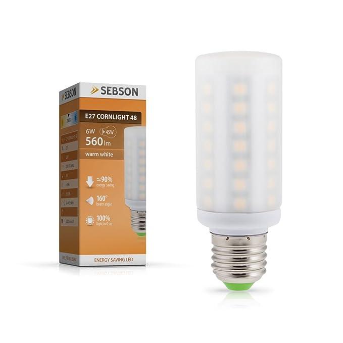 SEBSON E27 LED 5W Lampe - vgl. 45W Glühlampe - 560 Lumen - E27 LED ...