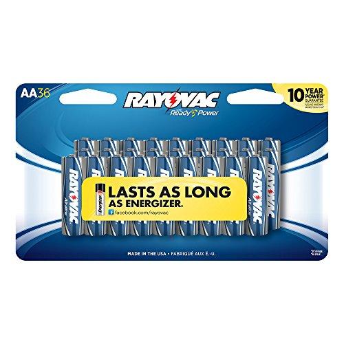 Rayovac 815-36CF2 Alkaline AA Batteries - 36 Pack