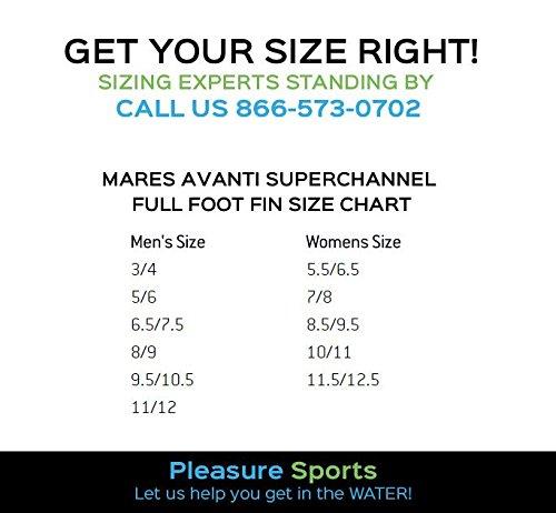 Amazon Com Mares Avanti Superchannel Full Foot Fin Blue Sports