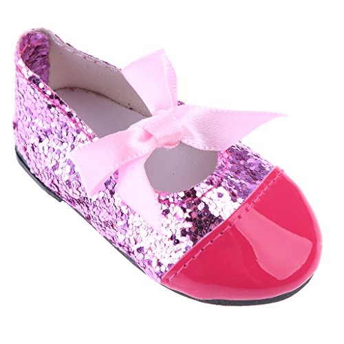 MonkeyJack Fashion Doll shoes Bow Strap Flats for 43cm Baby Born zapf Doll Clothes Dress Up Accessories
